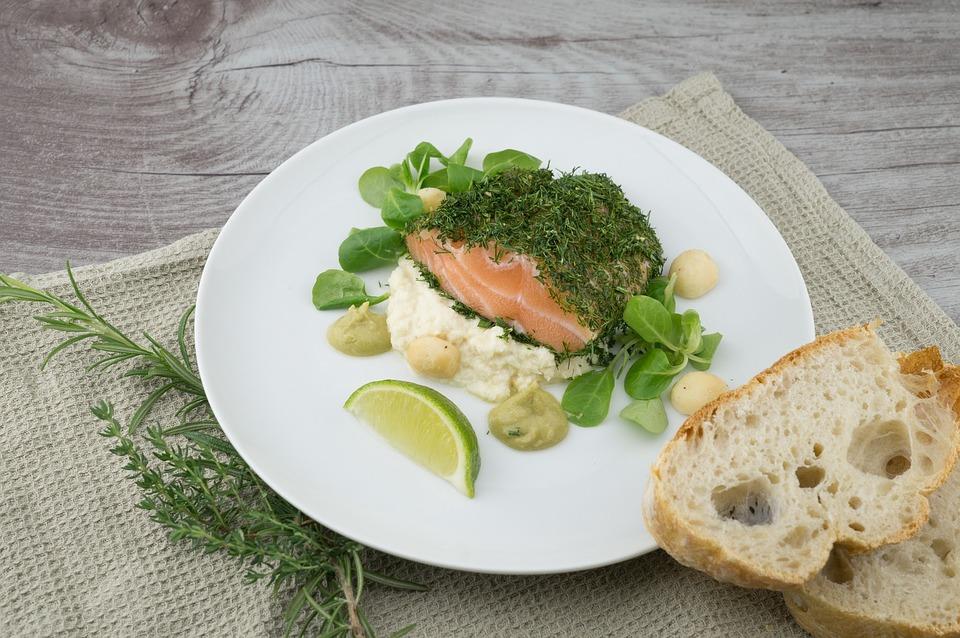 ryba, zelenina